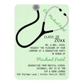 Invitación del médico graduación del estetoscopio