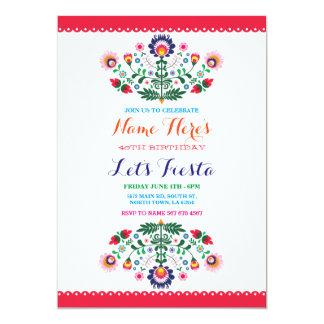 Invitación del mexicano de la fiesta de cumpleaños