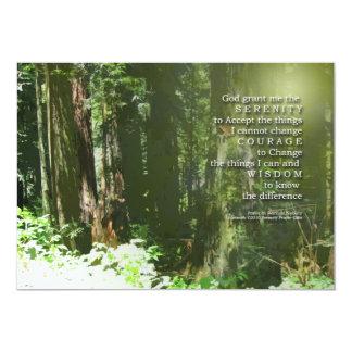 Invitación del monumento del rezo de la serenidad