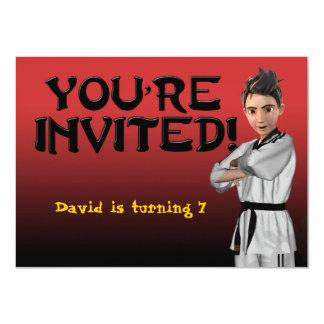 Invitación del muchacho de TKD