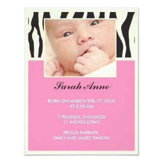 Invitación del nacimiento invitación 10,8 x 13,9 cm