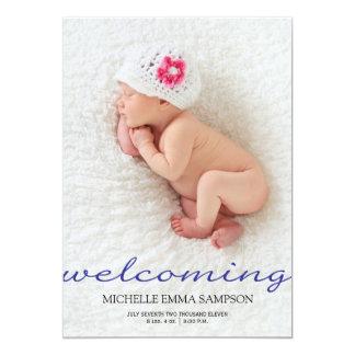 Invitación del nacimiento invitación 12,7 x 17,8 cm