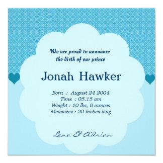 Invitación del nacimiento invitación 13,3 cm x 13,3cm