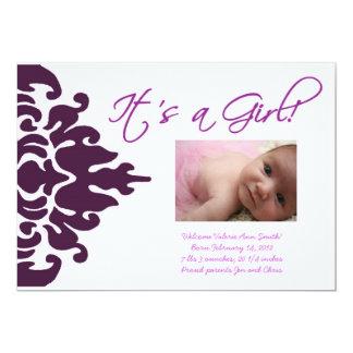 Invitación del nacimiento - chica