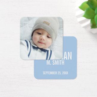 Invitación del nacimiento con la foto recién