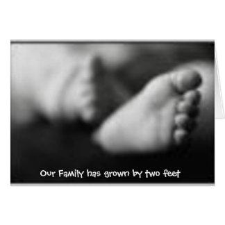 Invitación del nacimiento de la adopción