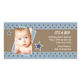 Invitación del nacimiento de la foto de la estrell tarjeta fotográfica