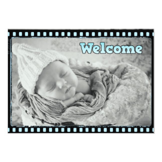 Invitación del nacimiento de la foto de la tira de