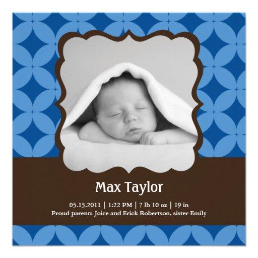 Invitación del nacimiento de la foto del bebé