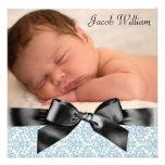 Invitación del nacimiento de la foto del bebé del