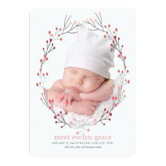 Invitación del nacimiento de la foto del marco de