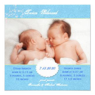 Invitación del nacimiento de la foto para los
