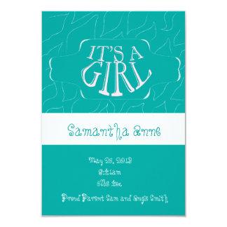 Invitación del nacimiento de la niña