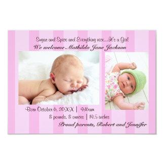 invitación del nacimiento de la niña del azúcar