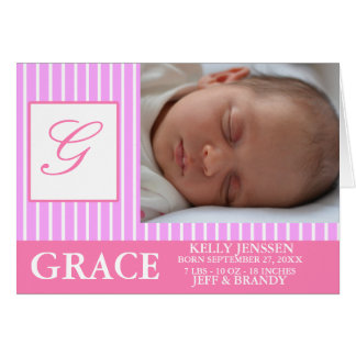 Invitación del nacimiento de la niña tarjeta de felicitación