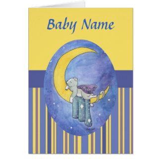 Invitación del nacimiento de las buenas noches tarjeta pequeña