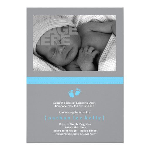 Invitación del nacimiento de los pasos de bebé