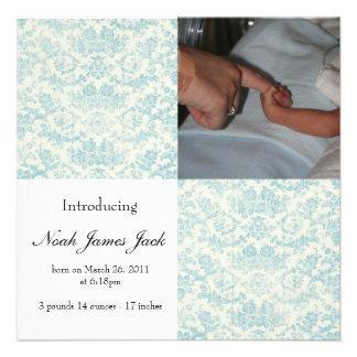 Invitación del nacimiento del bebé