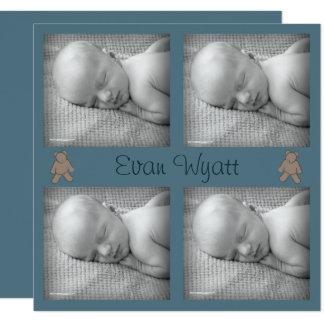 Invitación del nacimiento del bebé con Teddybear