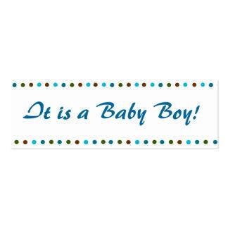 Invitación del nacimiento del bebé de Minicard Tarjetas De Visita Mini