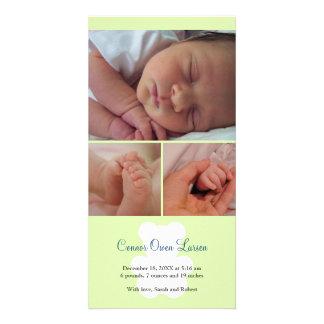 Invitación del nacimiento del bebé del montaje del tarjetas personales