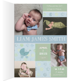 Invitación del nacimiento del bebé tarjeta de felicitación