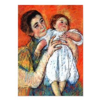 Invitación del nacimiento del bebé y de la madre