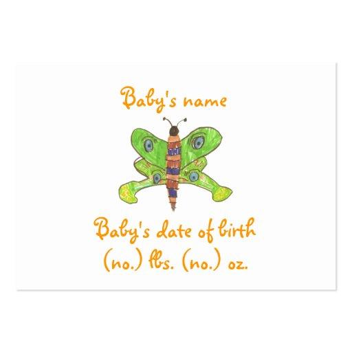 Invitación del nacimiento del bolsillo de la marip plantilla de tarjeta de negocio