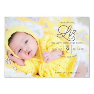 Invitación del nacimiento del cielo de Liz