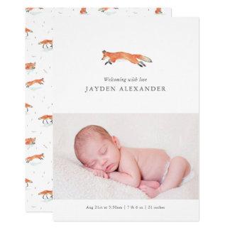 Invitación del nacimiento del Fox de la acuarela