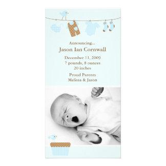 Invitación del nacimiento del lavadero del bebé tarjeta personal