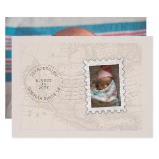 Invitación del nacimiento del viaje del sello de