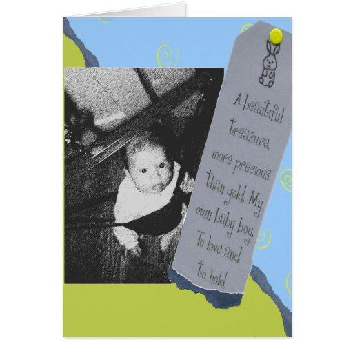 Invitación del nacimiento para la plantilla del tarjeta de felicitación