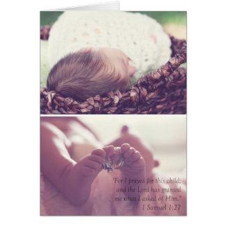 Invitación del nacimiento tarjeta de felicitación