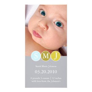 Invitación del nacimiento plantilla para tarjeta de foto