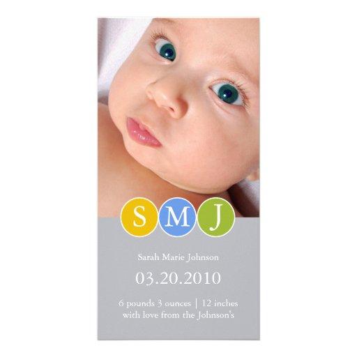 Invitación del nacimiento tarjeta fotográfica personalizada