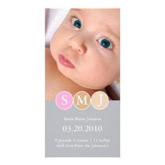 Invitación del nacimiento tarjeta personal con foto