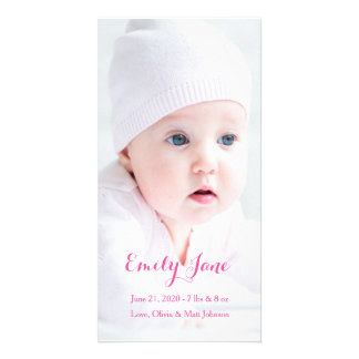 Invitación del nacimiento - tarjetas de la foto tarjetas personales