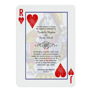 Invitación del naipe de rey Queen