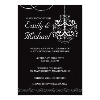 Invitación del negro del aniversario de boda de la