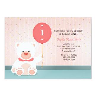 Invitación del oso del globo