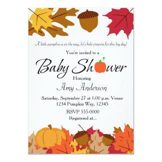Invitación del otoño de la fiesta de bienvenida al