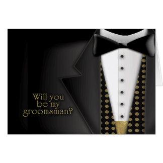 Invitación del padrino de boda del smoking