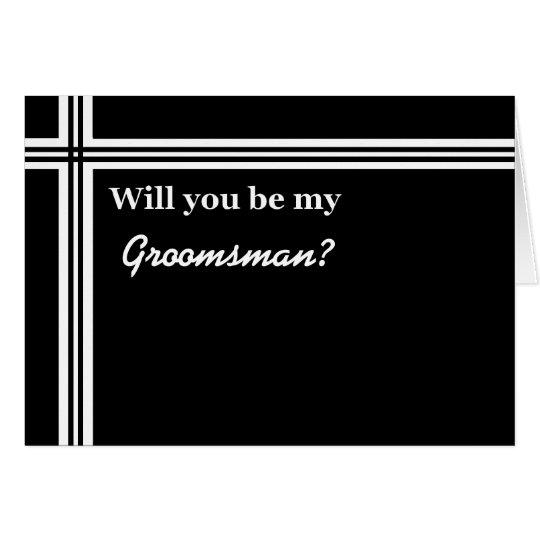 Invitación del padrino de boda - divertida - tarjeta de felicitación