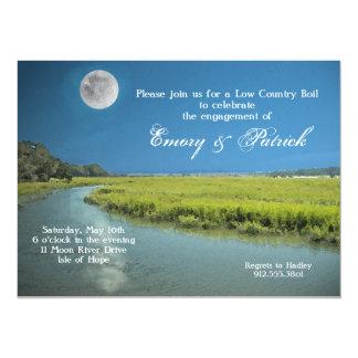Invitación del país bajo de la luna del Palmetto Invitación 13,9 X 19,0 Cm