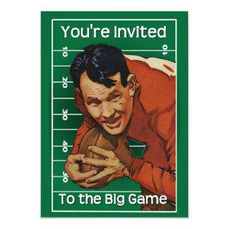 Invitación del partido de fútbol invitación 12,7 x 17,8 cm