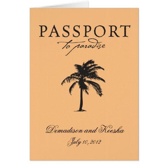Invitación del pasaporte del boda a St Thomas
