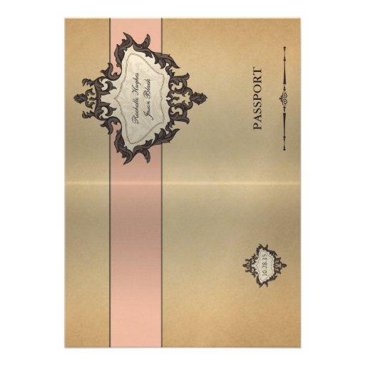 Invitación del pasaporte del vintage