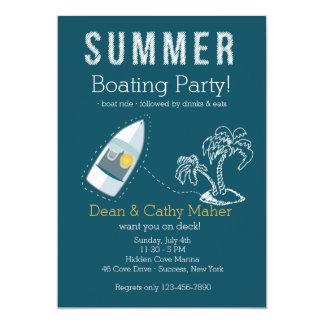 Invitación del paseo del barco