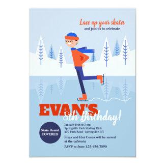 Invitación del patinador de hielo del muchacho